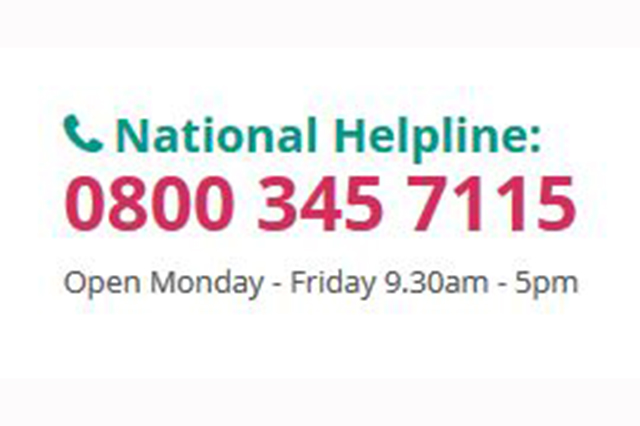 Poster with Patients Association National Helpline number