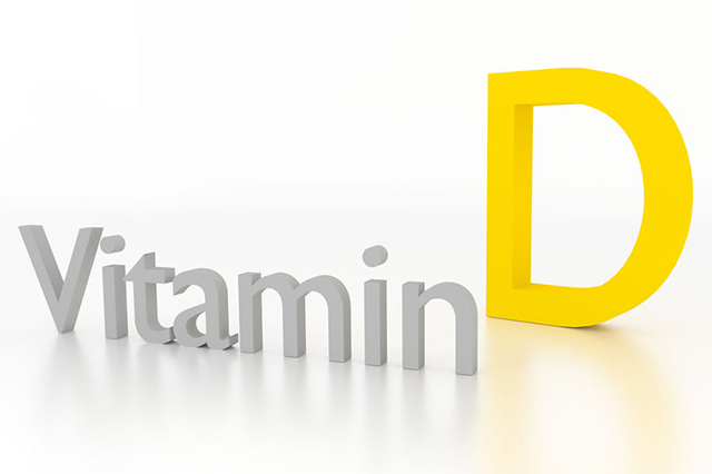 Graphic with the words Vitamin D